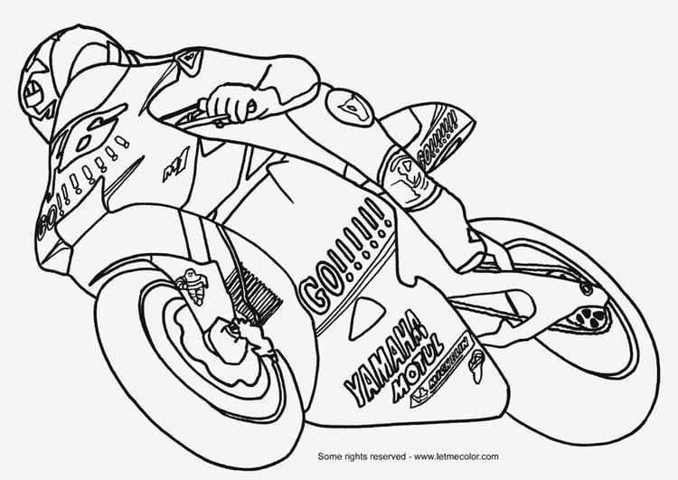 Coloriage Moto Coloriages Gratuits A Imprimer