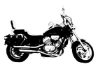 Coloriage moto - Honda Magna