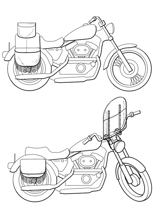 Coloriage motocyclettes