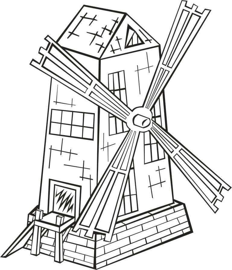Coloriage moulin vent img 16203 images - Coloriage petit vent ...