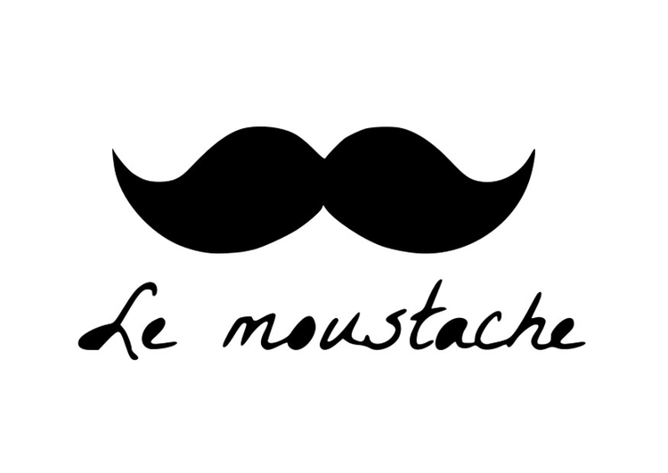 Coloriage moustache