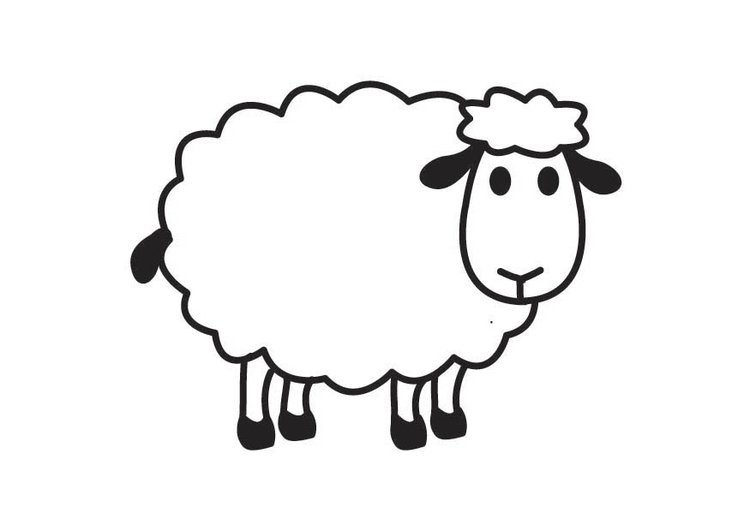 Pin coloriage mouton img 21235 on pinterest - Mouton coloriage ...