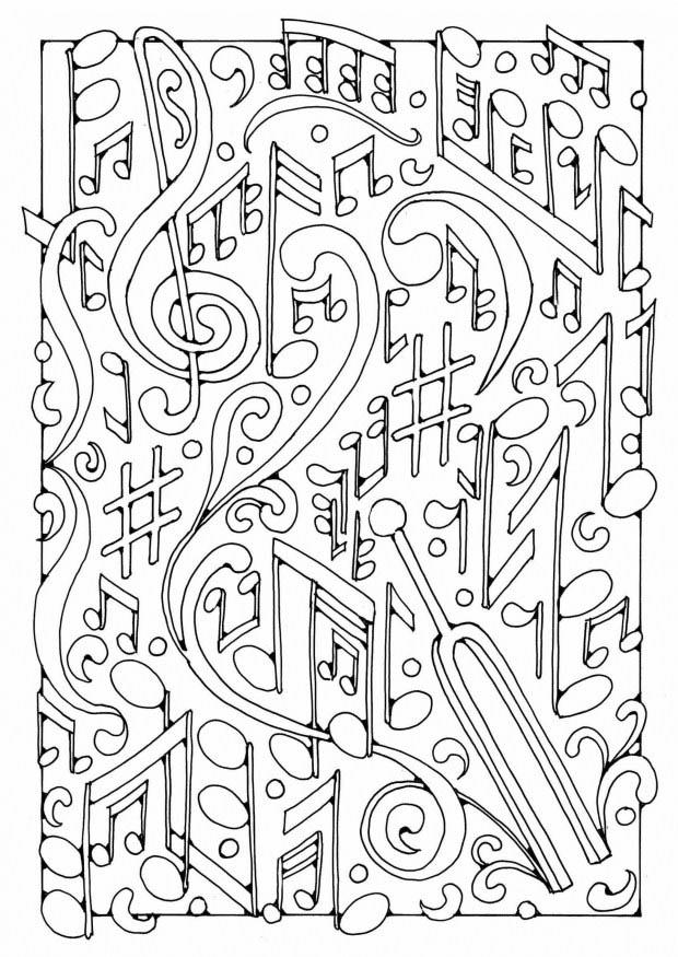 Coloriage musique img 19589 - Musique coloriage ...