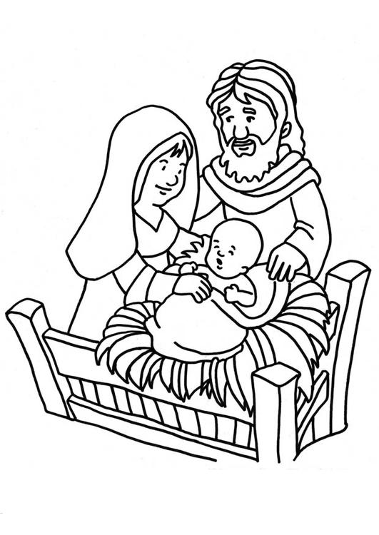 Kleurplaat Figuren Kerststal Coloriage Naissance De J 195 169 Sus Img 18661 Images