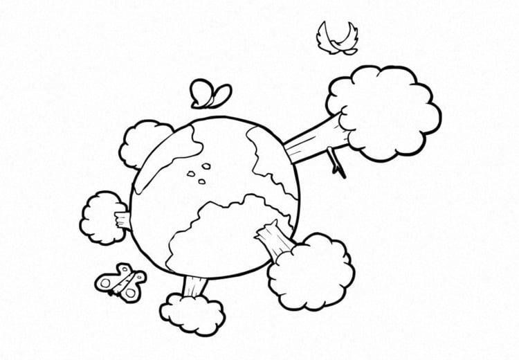 Coloriage nature climat la terre img 14917 for Disegno terra da colorare