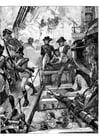 Coloriage Nelson au Trafalgar