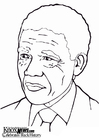 Coloriages Nelson Mandela
