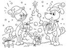Coloriage Noël pour les animaux