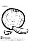 Coloriage noix de coco