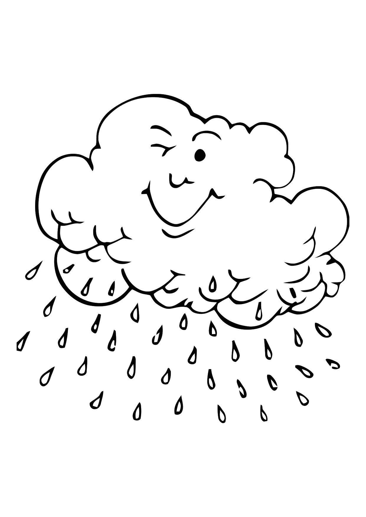 Coloriage nuage de pluie img 11401 - Dessin de nuage a imprimer ...