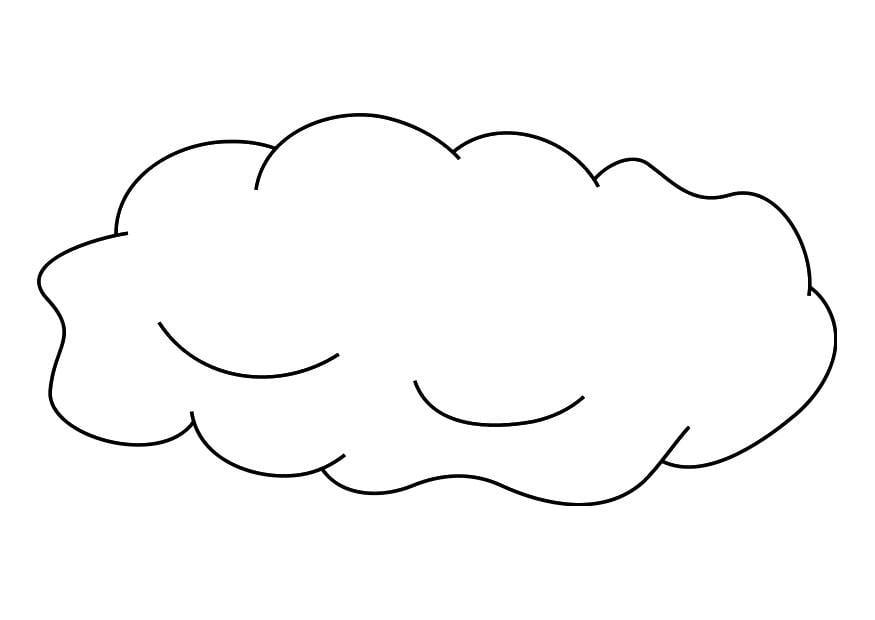 Coloriage nuage img 19256 - Nuage en dessin ...