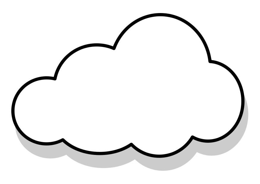 free cloud coloring pages - photo#47