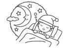 Coloriage nuit - sommeil