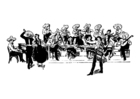 Coloriage orchestre mexicain