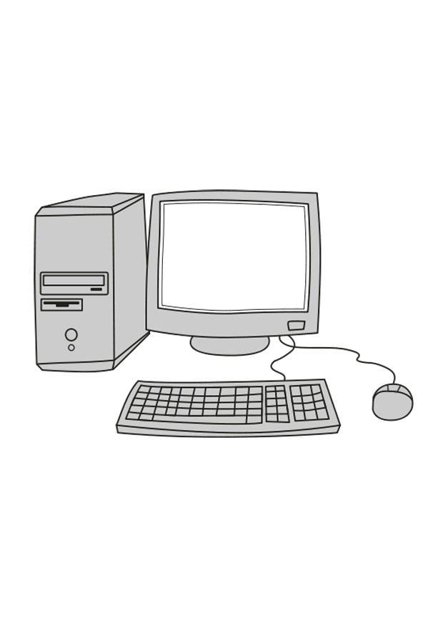 Coloriage ordinateur img 25546 - Ordinateur coloriage ...