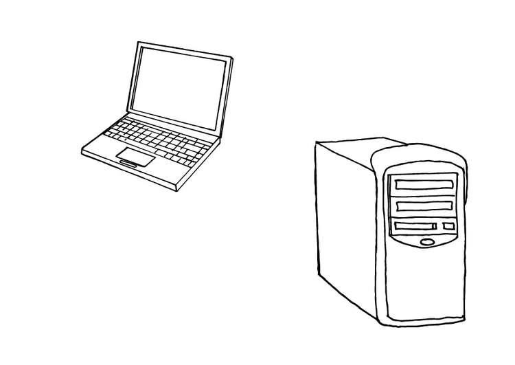 Coloriage ordinateurs img 10426 - Ordinateur coloriage ...