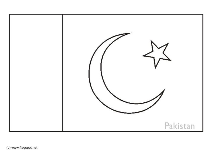 pakistani flag coloring pages - photo#27