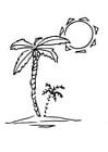 Coloriage palmier