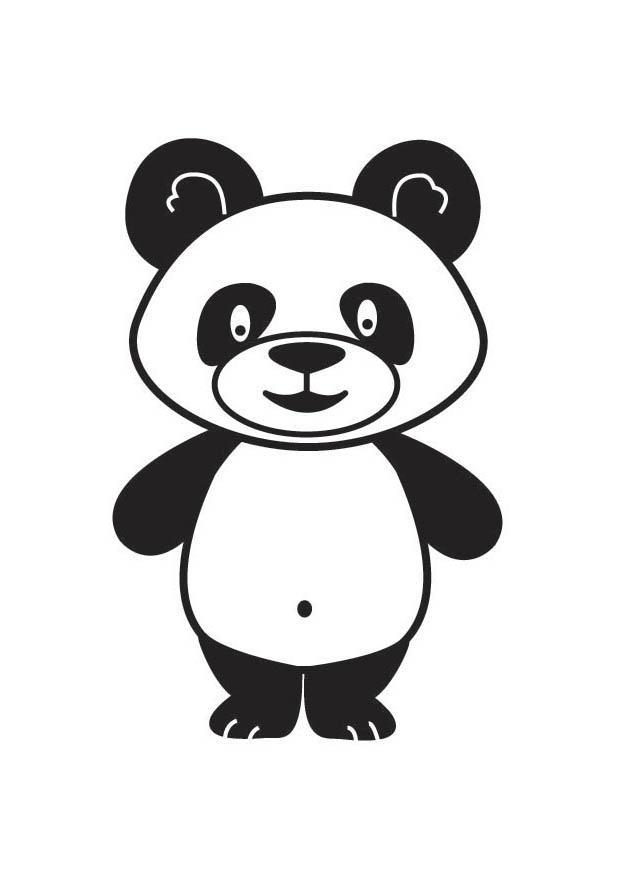Coloriage panda img 17687 images - Coloriage petit panda ...