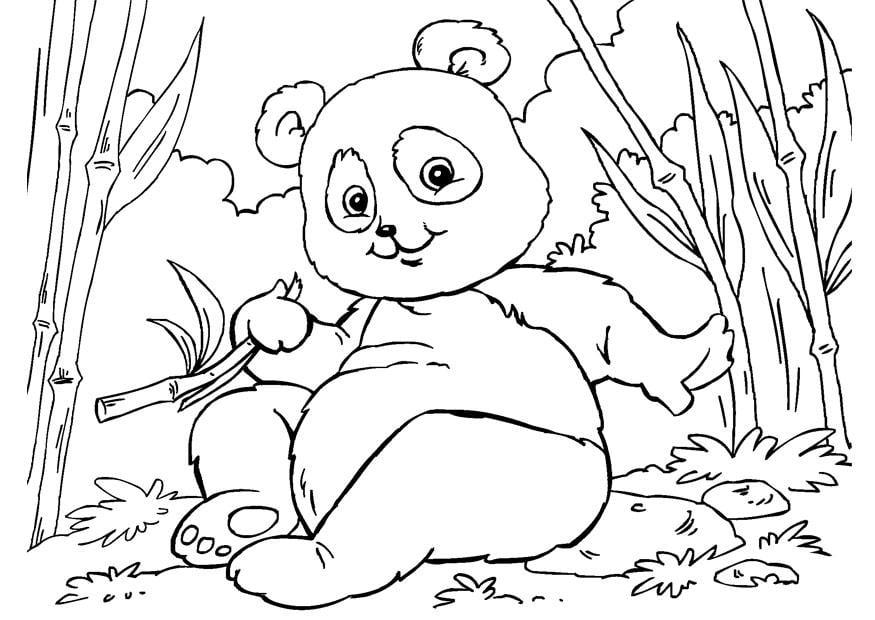Coloriage panda img 27859 - Panda coloriage ...