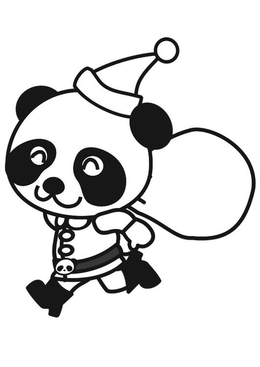 Coloriage panda en costume de no l img 20560 - Coloriage panda de noel ...