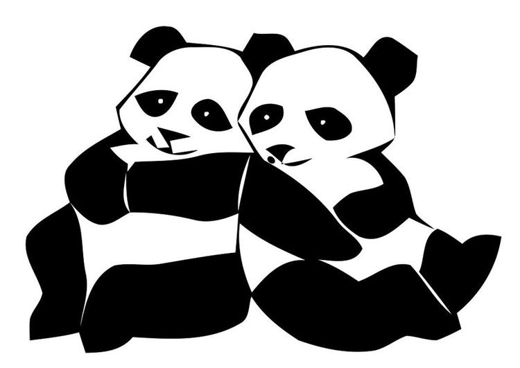 Coloriage pandas img 19629 - Coloriage panda ...