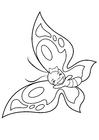 Coloriage papillon joyeux