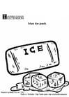Coloriage paquet de glace