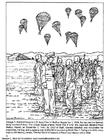 Coloriage parachutistes