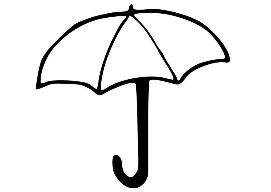 Coloriage parapluie img 22783 - Parapluie dessin ...
