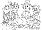 Coloriage partager le repas