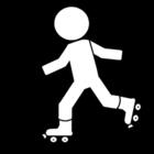 Coloriage patiner à roulettes