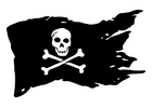 Coloriage Pavillons pirates et corsaires
