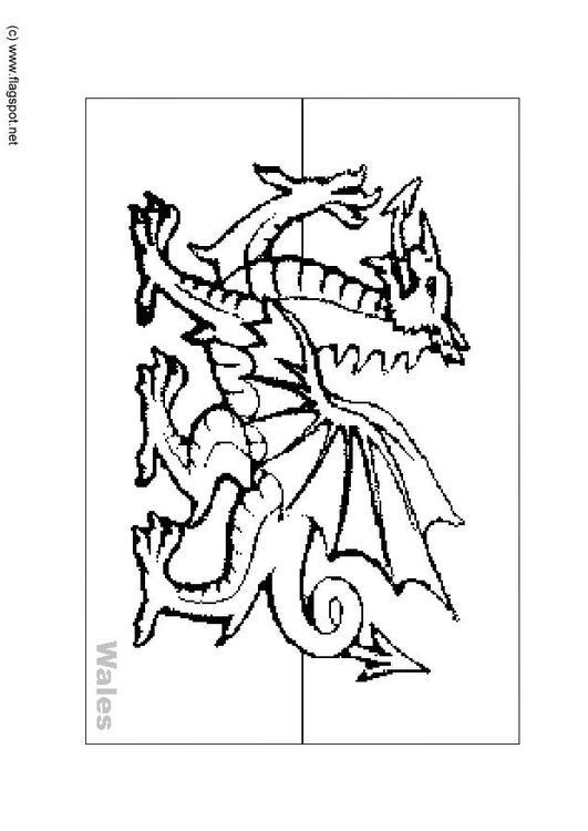 Coloriage pays de galles img 6165 - Logo pays de galles ...