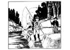 Coloriage pêcher