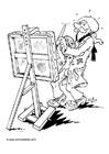 Coloriage peintre