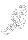 Coloriage père et enfant