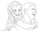 Coloriage père et fille
