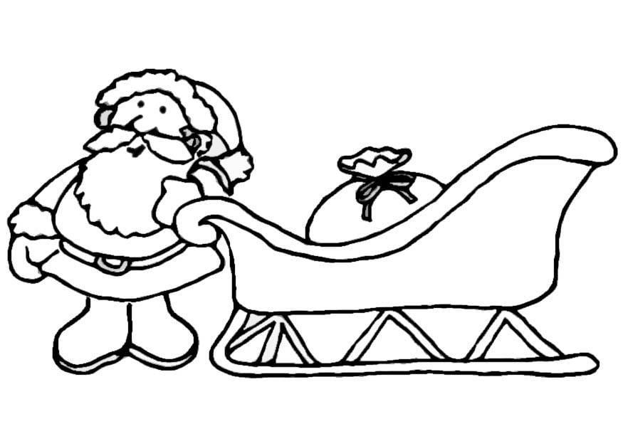 Coloriage Père Noël Avec Traîneau Img 8657