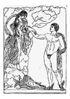 Coloriage Persée et Andromède