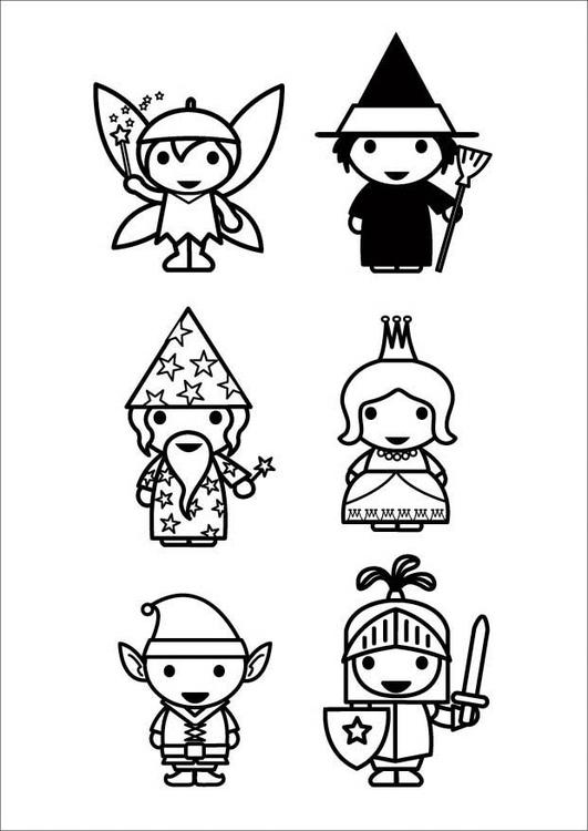 Coloriage Personnages De Contes De Fées Img 26421
