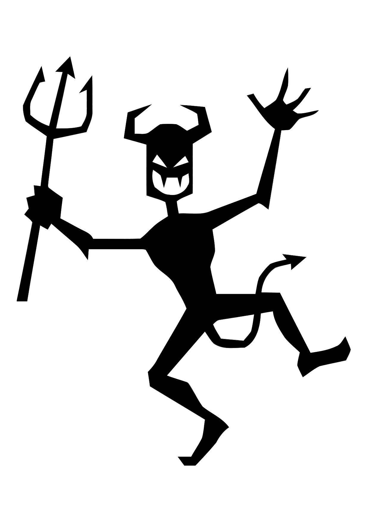 Coloriage petit diable dansant img 11309 - Coloriage de diable ...