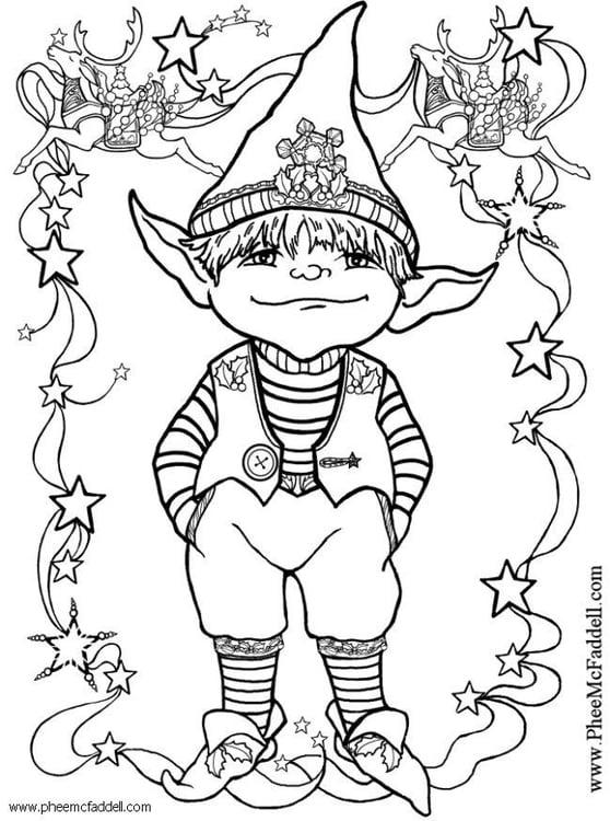 Coloriage petit elfe img 6107 - Coloriage elfe ...