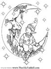 Coloriage petit elfe