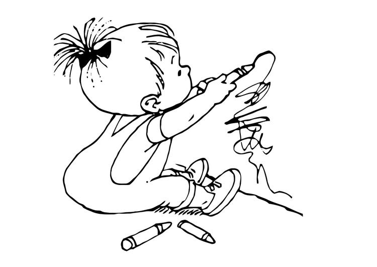 Coloriage Petit Enfant Dessine Coloriages Gratuits A Imprimer Dessin 11879