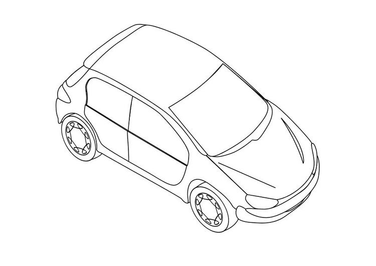 Coloriage Peugeot 206 Img 10349 Images