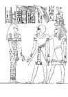 Coloriages pharaon Amenophis III