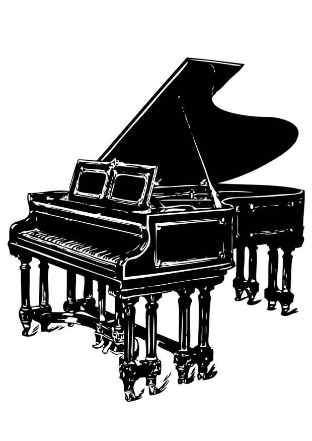 Coloriage piano à queue  img 17420