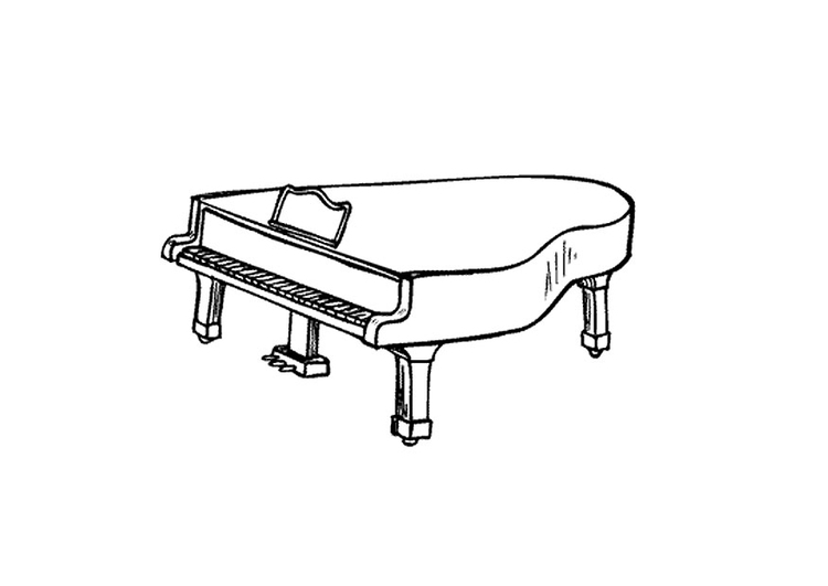 Coloriage piano queue img 9595 - Coloriage piano ...