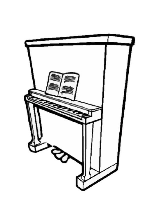 Coloriage piano